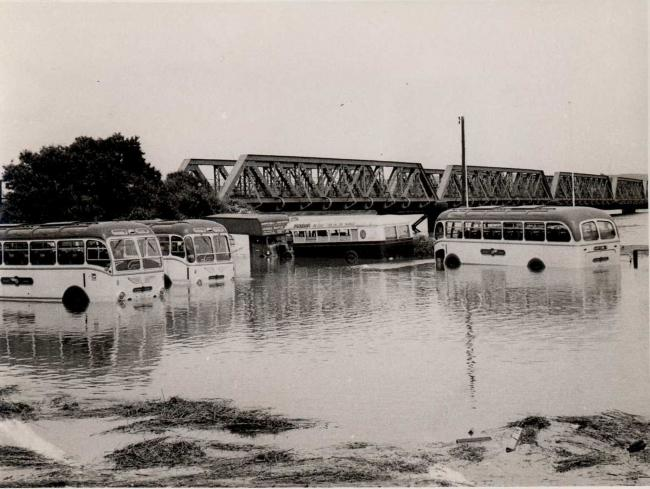 Flooding at the Swannery, Weymouth, now thought to be in the early 1950s