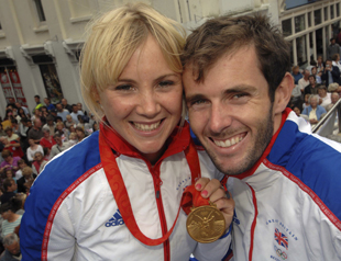 Dorset Echo: Sarah Ayton and Nick Dempsey