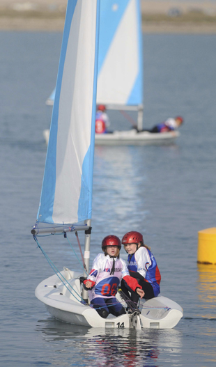 Dorset Echo: learning to sail off portland