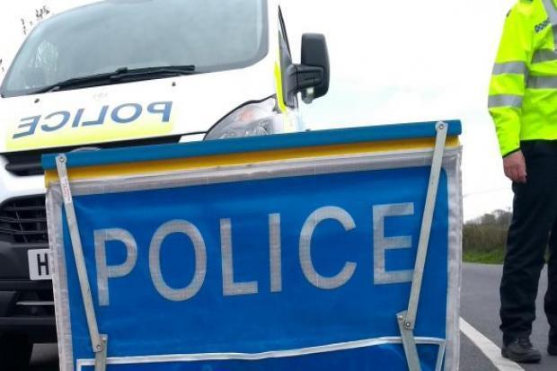 Road cleared following crash that brought down power cable