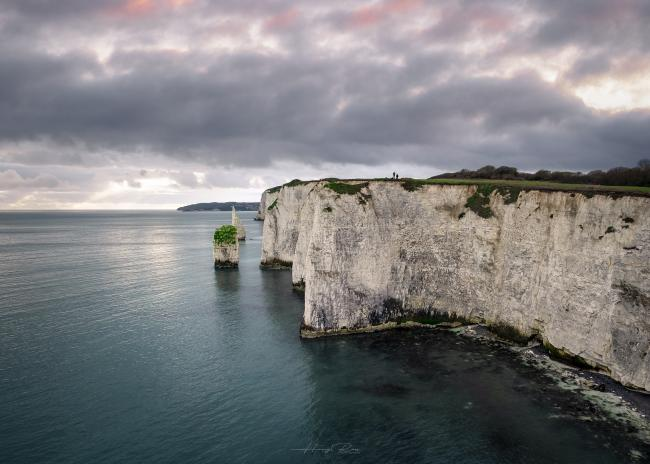 Moody day at Old Harry Rocks by Hang Ross