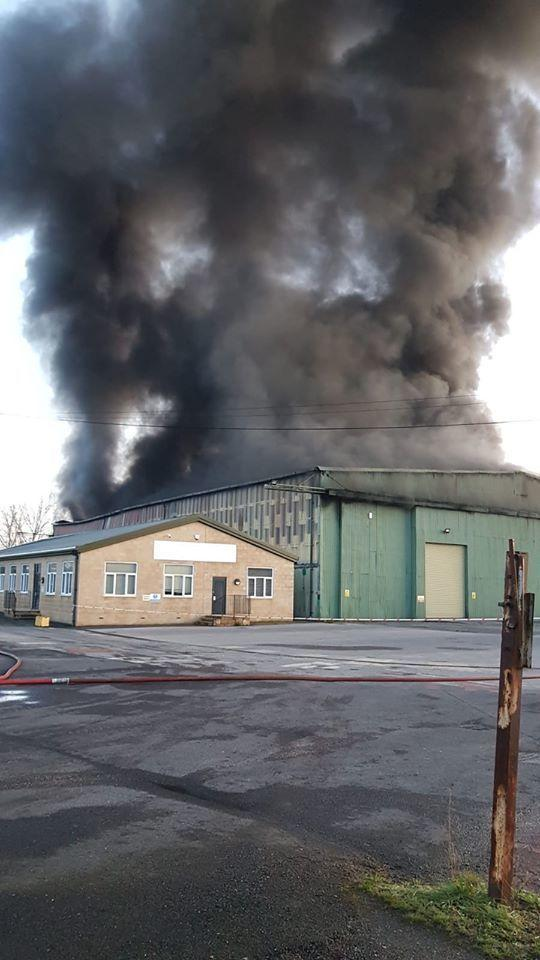 Fire in an industrial unit in Stalbridge on Monday March 16 2020. Picture: Sturminster Newton fire station