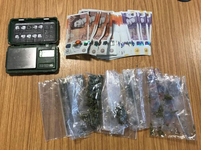 Officers seized a quantity of cannabis and cash Picture: WEYMOUTH AND PORTLAND POLICE