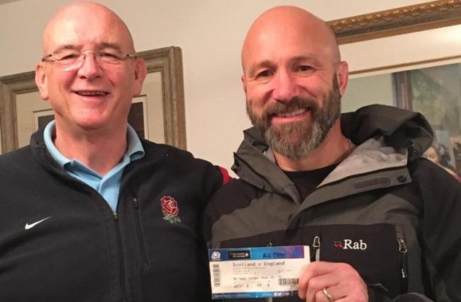 Dorchester Rugby Club's Bob Andrews, left, and Mo Ricketts, right 						       Picture: DORCHESTER RFC