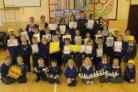 Youngsters at Bincombe Valley School