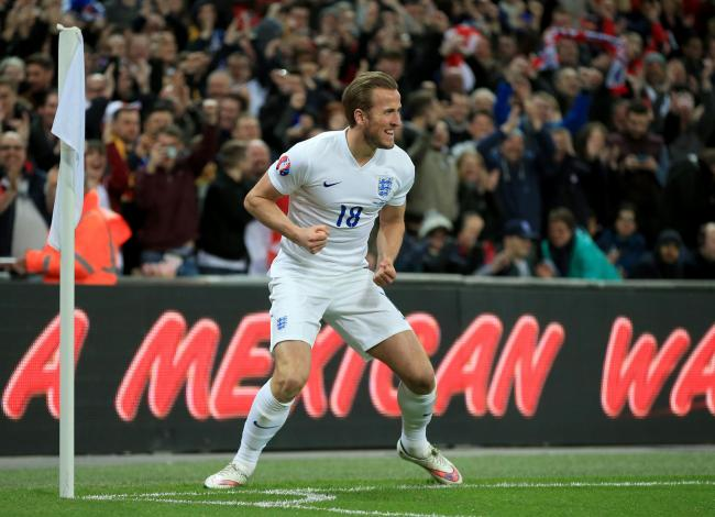 File photo dated 27-03-2015 of England's Harry Kane celebrates scoring his sides 4th goal of the game during the UEFA 2016 Qualifying match against Lithuania at Wembley Stadium, London. PA Photo. Issue date: Tuesday May 12, 2020. Harry Kane surprised