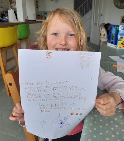 Schoolgirl who wrote to hospitalised PM delighted with reply