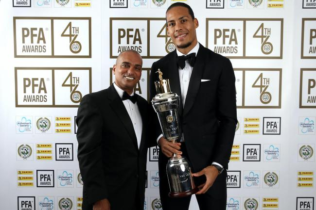 Bobby Barnes, left, pictured with Liverpool defender Virgil Van Dijk, is meeting with Government and Premier League officials to raise concerns related to BAME players