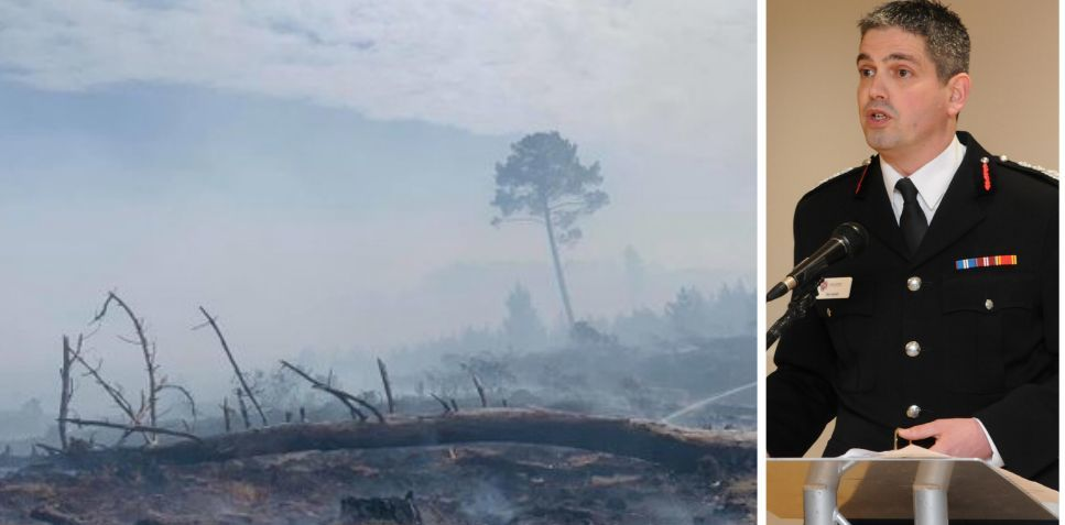 Fire chief: 'Our battle against fierce forest blaze – and my pride in crews'