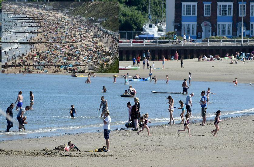 Spot The Difference Weymouth Bournemouth Beaches On Bank Holiday Monday Dorset Echo