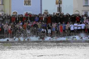 Dorset Echo: Weymouth Harbour swim