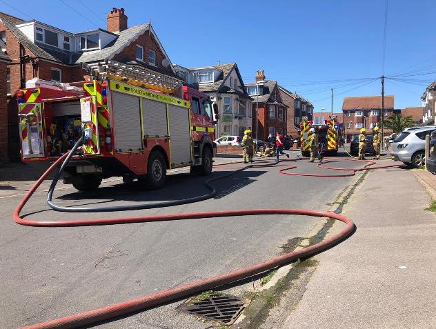 The fire service was called to Westham in Weymouth