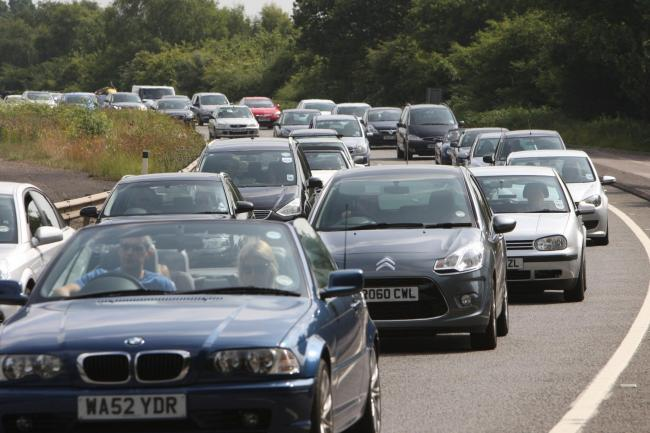 Traffic on the A31