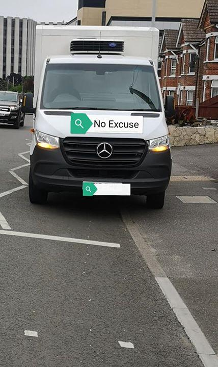The van ordered to move by police    Picture: Dorset Police No Excuse Team