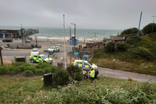A murder investigation has been launched after a man was stabbed to death in Boscombe Chine Gardens. Picture: Linda Sheppard