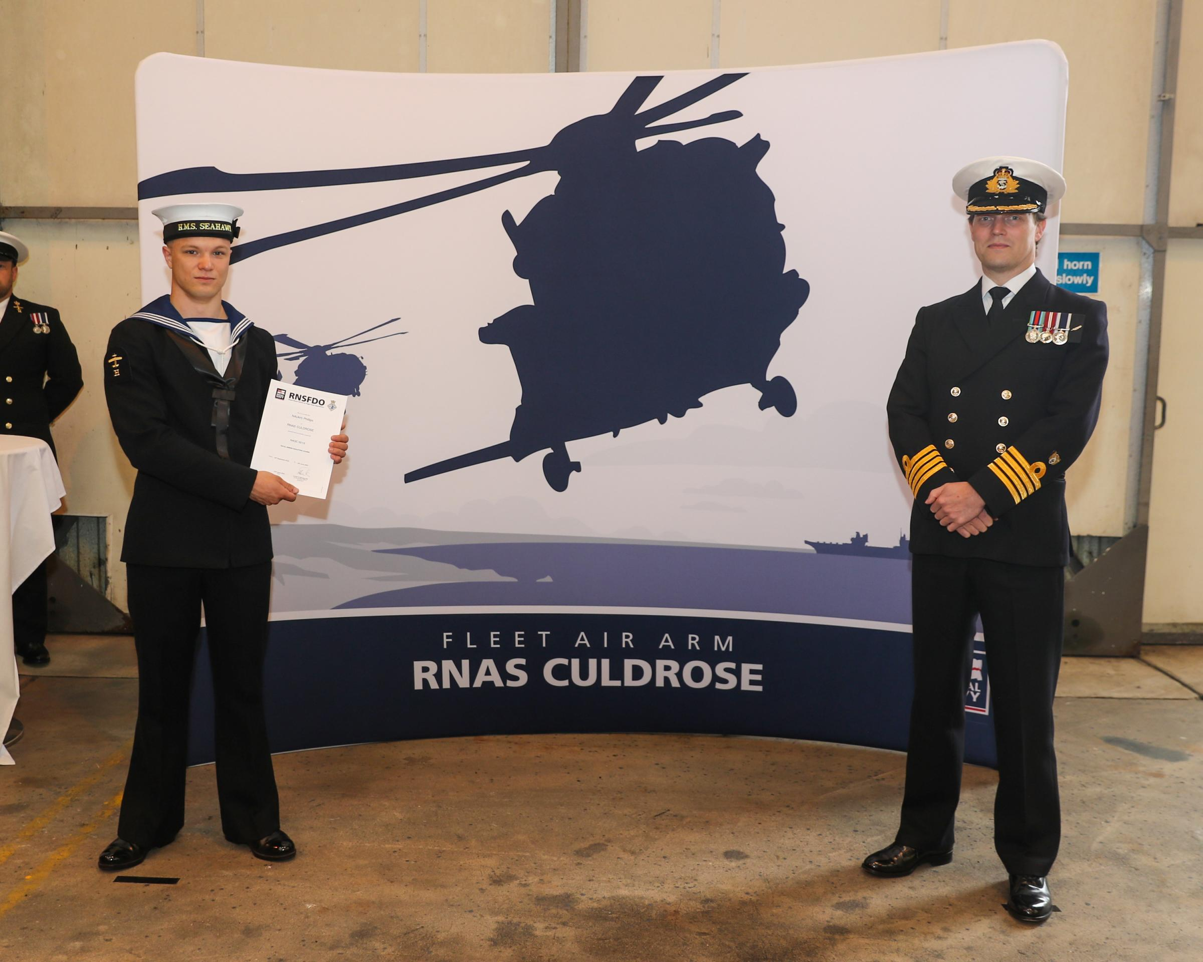 A Royal Navy sailor from Weymouth joins the Commando Helicopter Force as an aircraft handler