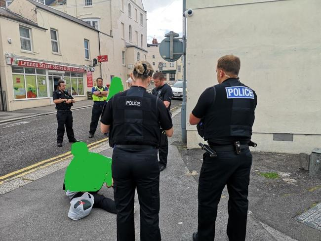 Two people were issued with Section 35 dispersal notices. Picture: Weymouth and Portland Police