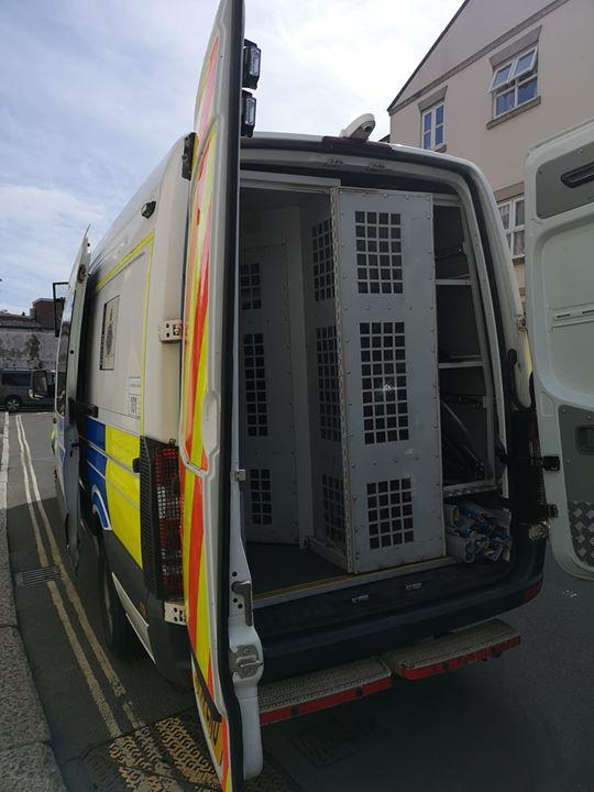 Police prepare to take the troublemakers away   Picture: Weymouth and Portland Police
