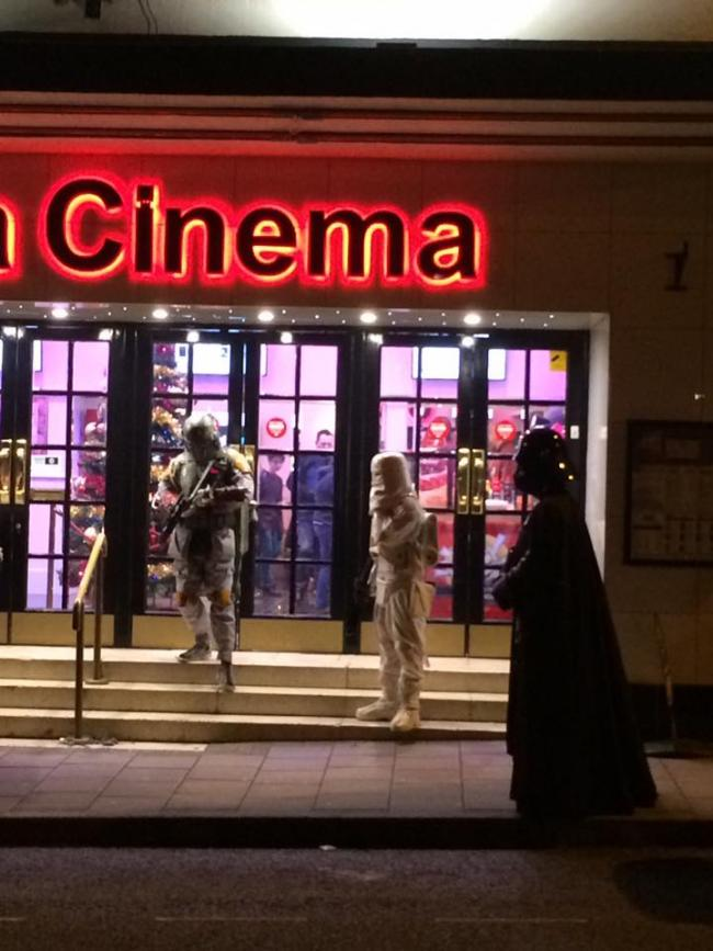 Opening night of Star Wars at the Plaza