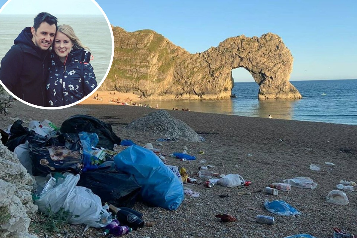 Weymouth duo's fundraiser after Durdle Door beach clean