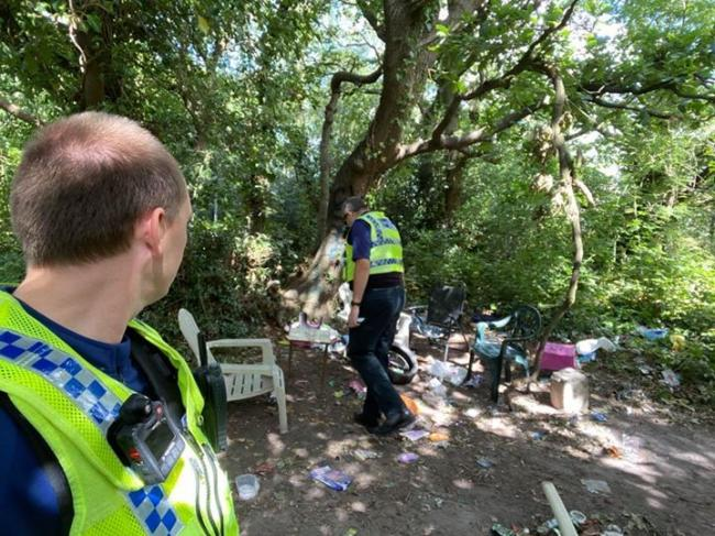 Police were called to Northmoor after reports of litter. Picture: PURBECK POLICE