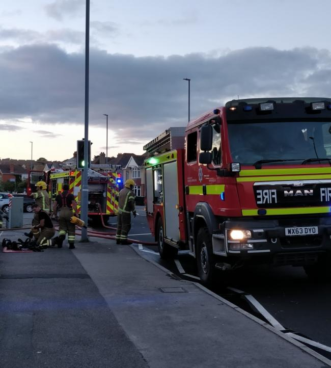 Firefighters at the scene   Picture: Weymouth Fire Station