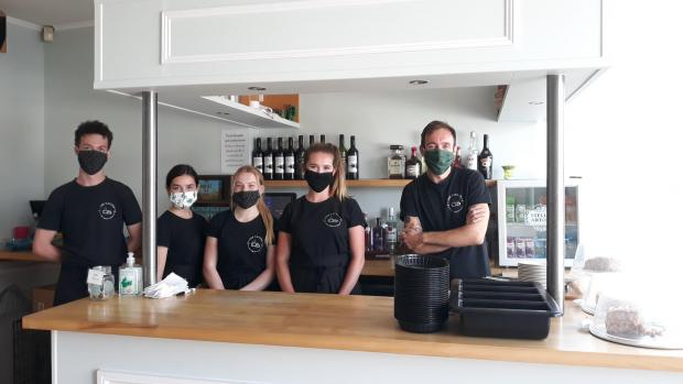 Dorset Echo: A warm welcome on a hot day! James and team at Cactus Tea Rooms Picture Ellie Maslin