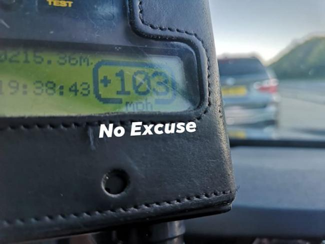 The driver was speeding at 103mph