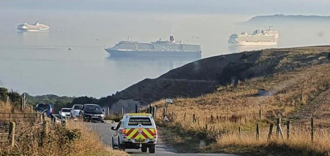 Coastguards at the scene   Picture: Kimmeridge Coastguard