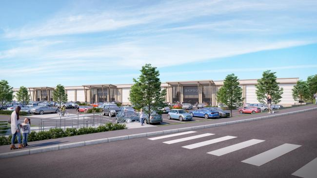 Artist's impression of Weymouth Gateway site
