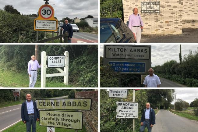 Six of the seven towns Abbas Kapasi visited were in Dorset