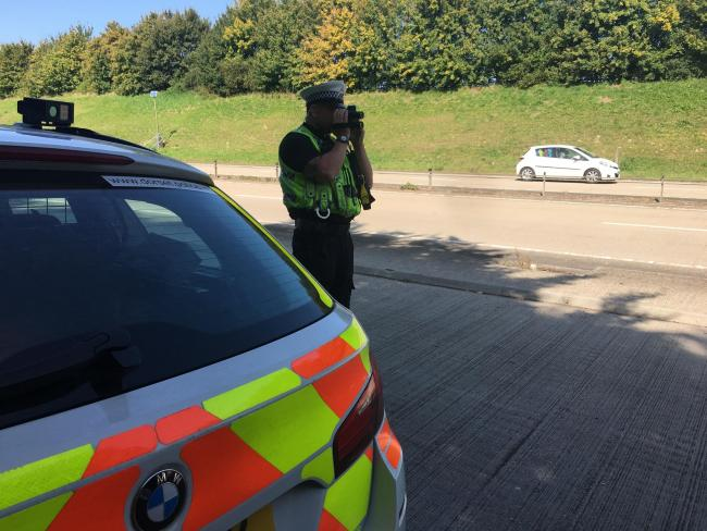 Dorset Police crackdown on speeding drivers on the A35
