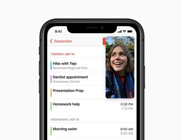 Dorset Echo: With Picture-in-Picture, users can watch a video or take a FaceTime call while using another app. Picture: Apple