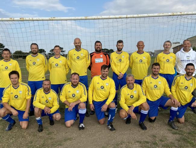 n Portland Town veterans won their opening game of the season 8-1 		         Picture: PTFC