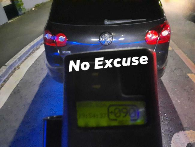 Dorset Police No Excuse Team stopped this car doing 90mph in a 40mph zone