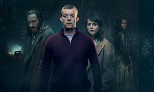 Pictured: (L-R) Bertie Carvel as Bob, Russell Tovey as Nathan, Amrita Acharia as Holly, Simone Ashley as Elise Picture: ©ITV