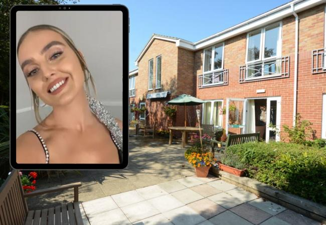 Little Mix star Perrie Edwards has recorded a video message sending support to everyone at Buxton House care home in Weymouth