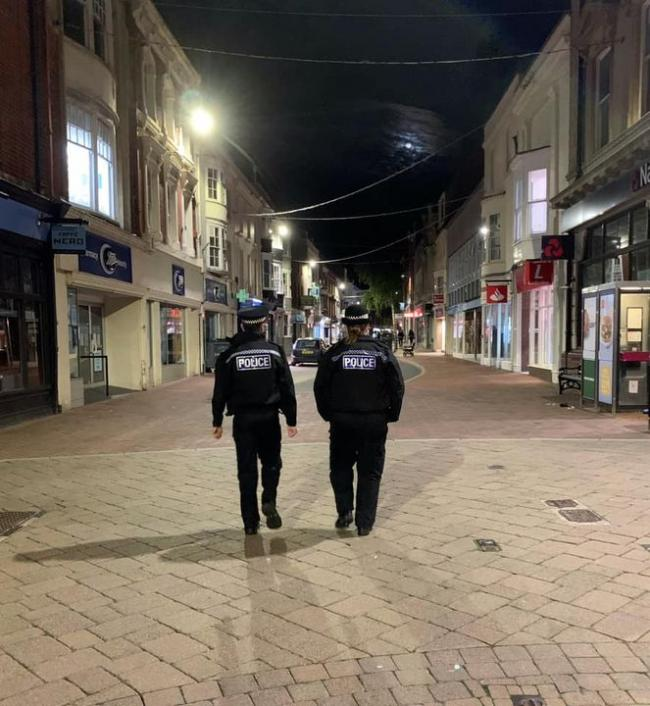 Officers on patrol  Picture: Weymouth and Portland Police