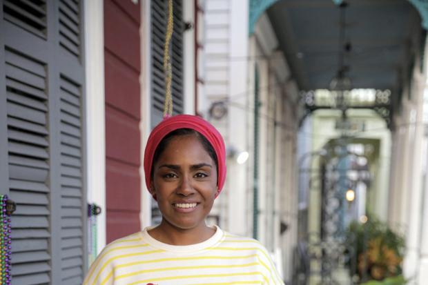 Nadiya Hussain rustles up some delicious Rocky Road in New Orleans Picture: PA Photo/BBC/ Wall to Wall Media Ltd/Tom Kirkman