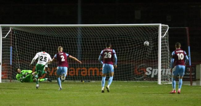 Weymouth boss Brian Stock was bitterly disappointed by the 3-0 loss to Yeovil Town Picture: MARK PROBIN
