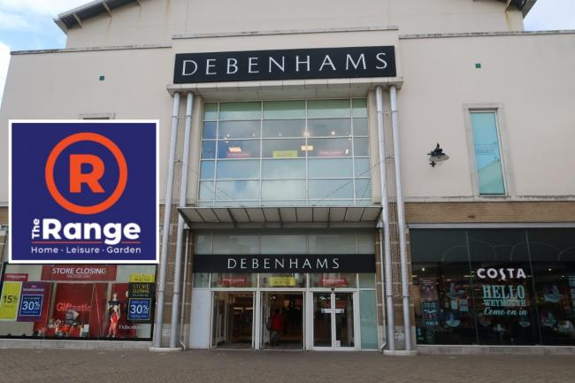 Debenhams could be transformed into a Range store if plans are approved. Picture: Dorset Echo.