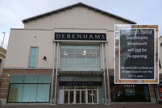 Debenhams in Weymouth town centre will not reopening. Picture: Dorset Echo/Michael Taylor