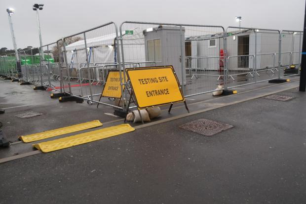 Dorset Echo: Photos show the new coronavirus testing site at Swannery Car Park, Weymouth. Picture: Dorset Echo