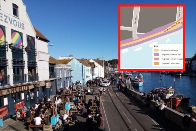 Community reacts to plans for redesign of roads at Weymouth Harbour