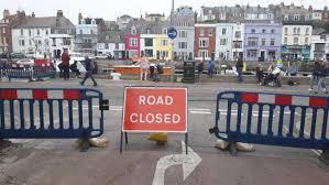 Dorset Echo: Roads were closed last year as the harbour was pedestrianised temporarily