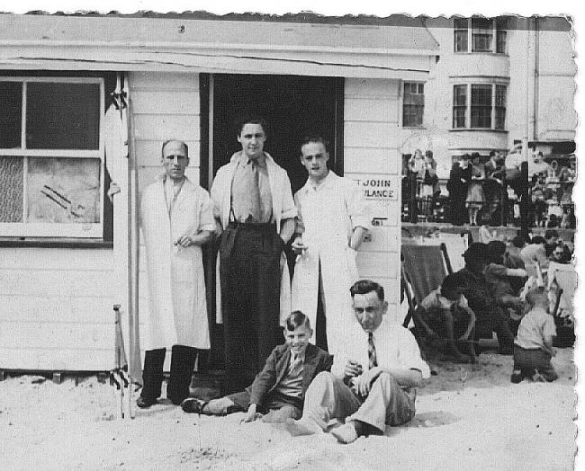 Weymouth's First Aid Beach Hut in 1946