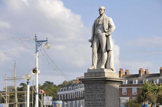 Statue of man who did so much for the town was beheaded TWICE