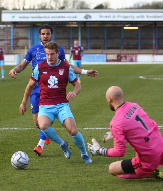 Andy Dallas, left, now has four goals for Weymouth 		            Picture: MARK PROBIN