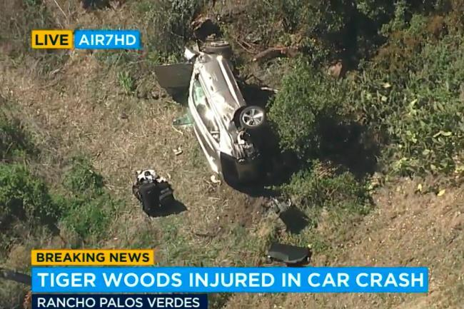 Tiger Woods suffers serious injuries in  car crash