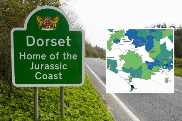 Where coronavirus cases in Dorset are decreasing and areas with highest cases
